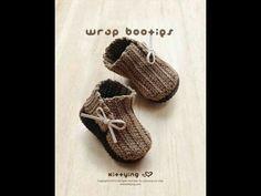 How to crochet simple baby booties p2