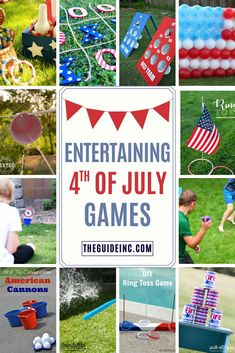 These of July games are guaranteed to be entertaining! From glow-in-the-dark ring toss to balloon dart there is something for everyone! 4th Of July Celebration, 4th Of July Party, Fourth Of July, 4th Of July Ideas, Patriotic Crafts, July Crafts, Patriotic Party, Independence Day Game, 4. Juli Party
