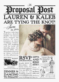 vintage newspaper wedding invitation the by mintandmerlotpaperco