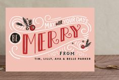 Be Merry Matchbook Holiday Cards