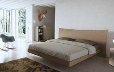Оригинальная кровать из натурального бука Caccaro LONGUETTE