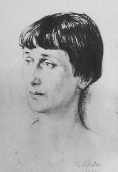 Портрет Анны Ахматовой Г. С. Верейский. 1929 год