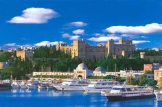Port of Rhodes. Greek Isles Cruise, Travel from Athens to Mykonos - Friendly Planet Places To Travel, Places To See, Travel Destinations, Beautiful Islands, Beautiful Places, Greek Cruise, Rhodes Island Greece, Myconos, Greek Isles