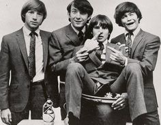 The Monkees: Peter Tork, Michael Nesmith, Davy Jones, and Mickey Dolenz. -- I LOVED them!