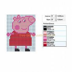 Peppa Pig free perler beads Hama Beads pattern baby toy ideal