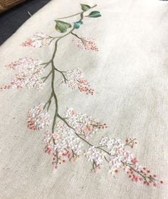 Blossom flower embroidery