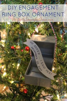 Perfectly Imperfect: DIY: Engagement Ring Box Ornament... I still have my ring box!
