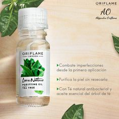 I Love Nature tea tree oil by Oriflame Cosmetics ❤MB Oriflame Business, Tea Tree Oil, Natural, Shampoo, Beauty Hacks, Hair Makeup, Skin Care, Cosmetics, Bottle