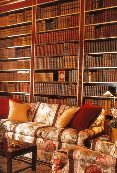 To me, the most beautiful room in the world. Albert Hadley's design of Oxblood lacquer bookshelves for Brooke Astor's famous library.