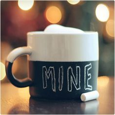 Chalkboard Mug and 64 other homemade gifts