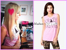 Crazy Dreamer Graphic Muscle Tee from Forever 21 -- Worn at BOP and Tiger Beat Photo Shoot on June 6, 2013