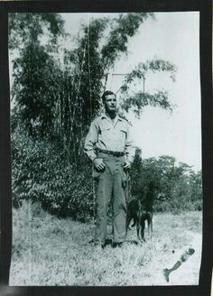 Dad and war dog Pete.  WWII India
