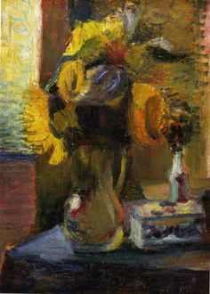 Sunflowers in a Vase, 1898, Henri Matisse.