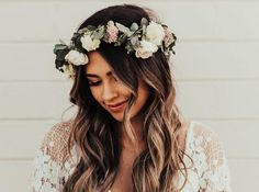 10 Spring Wedding Dresses That Will Have Your Groom Over The Moon On Your Special Day. Here are our favorite wedding dresses! Beautiful Bride, Most Beautiful, Wedding Ceremony, Our Wedding, Spring Wedding, 70s Wedding Dress, Wedding Looks, Flower Crown, Hippy