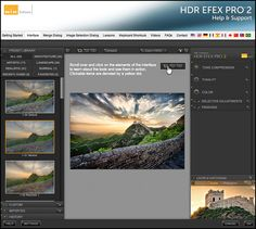 HDR Efex Pro 2 Interface Help plus links to other tutorial for other Nik programs