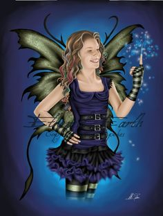 Commissioned fairy portraits by Alison Spokes