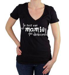 """T-shirt. Je suis une mamie qui dechire """"Spécial fête des Mamies"""". : T-Shirt, debardeurs par gazol-tee-shirt"""