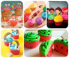 39 recetas de cupcakes originales y divertidos Recetas de cupcakes, 39 ideas fáciles y divertidas para decorar cupcakes. Animales, personajes infantiles, deportes y muchas más recetas de cupcakes.