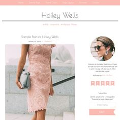 @Hailey Wells #WordPress Theme by @studiomommy - pretty chic feminine beautiful awesome girly mommy sweet simple elegant amazing muted - PIN NOW use it for your next money blog