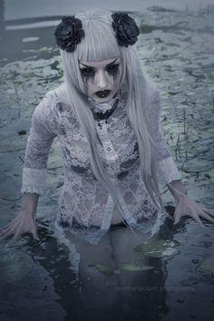 #Obsidiankerttu #Jovana #Obsidian #Kerttu #Althemy #Goth #Vampire #VampireFreaks #Jewelry #Model #Nocturnal #Graphic #Morbid #velvet #lace #Black #Gothic #Makeup #Modeling #Alternative #Beautiful #Pirsing #Makeup #Haircut #Dark #Swamp #Wet #Water #Crying #Bluehair #Dark #Blackflower obsidiankerttu.althemy.com