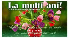 La Multi Ani! Viata sa iti frumoasa si colorata, ca acest buchet de flori!