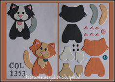 Baby Cards Handmade Diy Punch Art New Ideas Paper Punch Art, Punch Art Cards, Cat Cards, Kids Cards, Marianne Design Cards, Animal Cards, Stuffed Animal Patterns, Paper Cards, Felt Animals