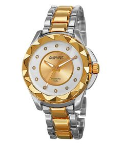 Look what I found on #zulily! Gold & Silver Diamond-Indice Bracelet Watch #zulilyfinds