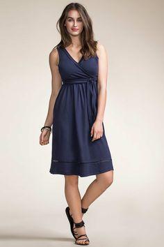 Boob Design Juno Nursing Dress, Navy Blue - Izzy's Mum Breastfeeding Clothing
