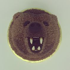 Hunter's bear cake for his birthday