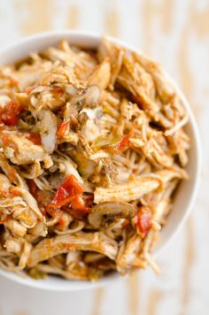 10 Healthy Chicken Recipes in a Pressure Cooker or Crock Pot for juicy shredded chicken with a variety of bold flavors for freezer friendly Instant Pot meals(Crockpot Chicken Mushroom) Italian Chicken Recipes, Healthy Chicken Recipes, Crockpot Recipes, Cooking Recipes, Mexican Chicken, Ip Chicken, Peanut Chicken, Frozen Chicken, Teriyaki Chicken