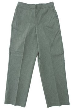 Alfred Dunner Sonoma Valley Flat Front Pants Grey 8 S Alfred Dunner. $29.99