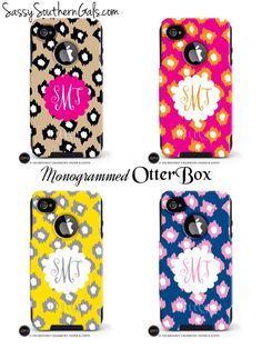 New to SassySouthernGals on Etsy: Monogrammed OtterBox for iPhone5 iPhone 6 iPhone 6 plus Personalized OtterBox Monogrammed Gift (70.00 USD)