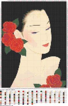 Великолепные японки от художника Ичиро Цурута / Вышивка / Схемы вышивки крестом