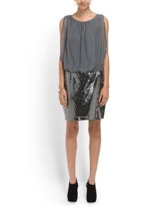 Sequin Sleeveless Dress- And this dress...
