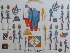 grenadier à pied et à cheval de la vieille garde, garde impériale 1809-1812