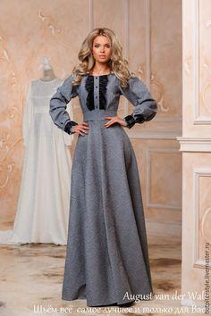 """Купить Платье """"Княжеская знать"""" - цветочный, модное платье, хлопоковое платье, макси платье Simple Dresses, Pretty Dresses, Beautiful Dresses, Casual Dresses, Muslim Fashion, Modest Fashion, Hijab Fashion, Fashion Outfits, Indian Designer Outfits"""