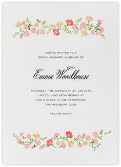 Beautiful, Custom Wedding Shower Invitations From Paperless Post.