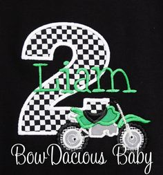 Dirt Bike Birthday Shirt Personalized Motorcycle by bowdaciousbaby