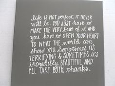 life is not perfect by livingstonandporter on Etsy, $46.00