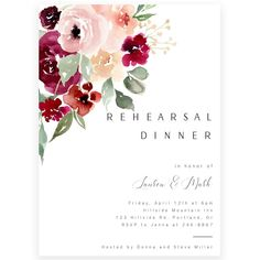 Floral Rehearsal Dinner Invitation | Forever Your Prints