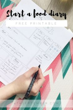Download free printable to start your food & skin diary    More than a food diary. – 4TH SEPTEMBER