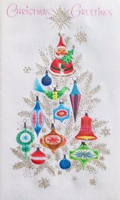 Vintage Christmas Card. Christmas Greetings
