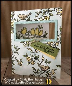 Stampin' Up Sneak Peek Free as a Bird – Cindy Lee Bee Designs April 2019 It's been a whirlwind of a month…classes, OnStage, family events…fun, fun, fun. You have probably been seeing some of the cards made with the NEW Free as a Bird sta… Stampin Up Catalog, Bee Design, Stamping Up Cards, Bird Cards, Paper Cards, Flower Cards, Greeting Cards Handmade, Homemade Cards, Making Ideas