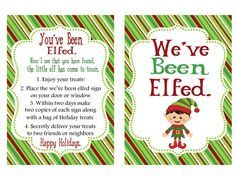 You've Been Elfed Printable Instructions by SweetDesignsbyRegan, $6.00