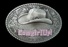 2fa214199be0 Western Cowgirl Rodeo Floral Flower Cowboy Hat Belt Buckle Boucle de  Ceinture  cowgirl  cowgirlup