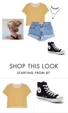 """Untitled 98"" by jjrandom29 ❤ liked on Polyvore featuring Monki, Converse, Levi's and Forever 21"