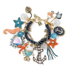 Under the sea charm Bracelet-  Betsy Johnson. JEWELRY SHOULD BE FUN TO WEAR!!