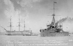 HMS Victory & HMS Dreadnought.