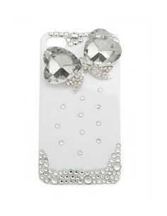 Crystal Heart Bow iphone cover