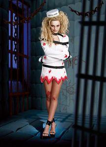 Straight Jacket Costume for Women | White Asylum Patient Straight ...